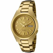 Seiko 5 Automatic Mens Watch Gold Plated Skeleton Back SNK610K1 UK Seller