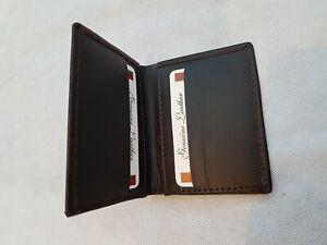 Leather Bifold ID Credit Card Wallet Slim Pocket Case Holder - Brown