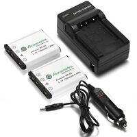 2x 1200mAh Battery + Charger For NP45 Fuji FinePix XP70 XP60 XP50 XP30 XP20 T550