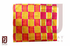 Kente cloth handwoven African Art African Clothing Fabric Textile 6 yards