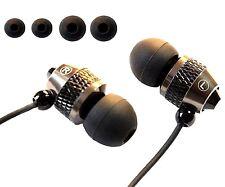 IN EAR EARPHONES HEADPHONE METAL NOISE ISOLATING EARPHONE FOR MP3 4 5 Black U.K.