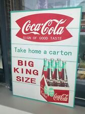 "Coca Cola Home Soda Drink Store Pepsi Coke Bottle Antique Metal Tin Sign 12""x9"""