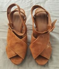 COUNTRY ROAD Brown Suede Leather High Heels Pumps Platform Shoes Size 37   2