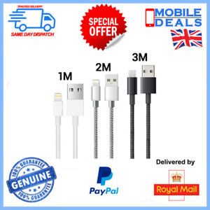 Extra Long Braided Fast Charger Data Cable for iPhone 6 7 8 X XR XS iPad 5S & SE
