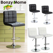 Set of 2 pcs Pu Leather Swivel Bar Stools Counter Height Adjustable w/ Backrest