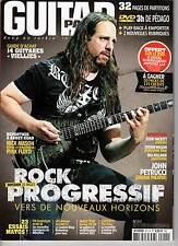 "GUITAR PART #211 ""Progressif,Petrucci,Hacket,Wilson,Maston,Pink Floyd"" REVUE+DVD"