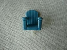 Nora Fleming Mini Chillin Blue Adirondack Chair Retired, New without tags
