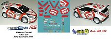 DECAL  1/43 -  FORD  FIESTA R5  - BRC -  BASSO - Rally  Sardegna   2014