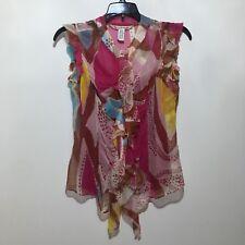 Diane von Furstenberg silk blouse and shell,  Size P