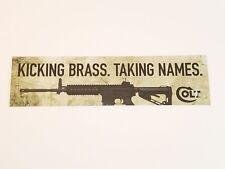 Colt Bumper Sticker / New / Kicking Brass. Taking Names.