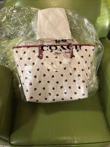 NWT Coach Ladybug Reversible City Tote Purse Handbag Red & White 2991 Last One