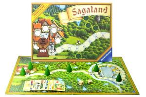 Sagaland Braune Ausgabe von 1982 Brettspiel 100% Komplett