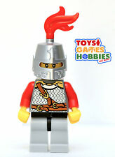 *NEW* LEGO x1 Castle Minifig  Knight Minifig Red Chainmak Kingdoms Chess