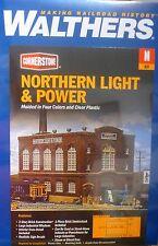 "Walthers N #933-3214 Northern Light & Power Powerhouse -- Kit - 6-5/8 x 4-1/8"""
