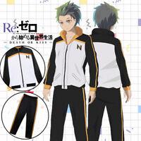 Anime Re:Zero Natsuki Subaru Unisex Cosplay Jacket Tops Casual Trousers#4-778
