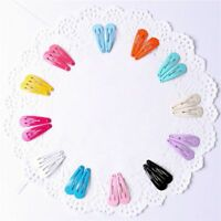 30pcs/set Candy Color Paint Hair Snap Clip Hairpin Barrette for Women Girls Gift