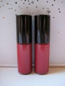 2x LANCOME L'Absolu Lacquer MINI Lip Gloss Cream 💕371 Passionnement 💕 New!
