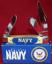 Case XX U.S. Navy Lrg Stockman Knife Blue & Yellow Delrin Stainless Pocket 17714