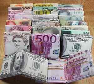 Dollar Money Bill PU Leather Card holder Case Bag Men Wallet Novelty Gift Bifold