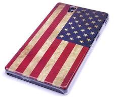 Funda protectora f Sony Xperia Z l36h bolsa case cover cuenco de EE. UU. américa bandera