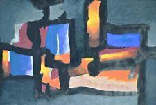 Paul ACKERMAN 1908-1981 Ecole Paris Gouache Abstraite Atlan Manessier 31 x 54 cm