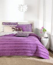"Bar Iii Plum Ruffle Standard Pillow Sham ""List Price $35"""