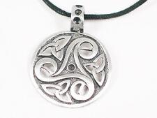Viking Celtic shield Pewter Pendant. Manx .Norse