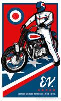 Eddie Vedder - 2012 Brad Klausen Las Vegas NV poster print motorcycle 11/01/2012