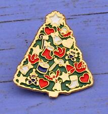 Pin's des années 1990, thème de Noël, sapin de Noël