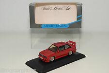 . MINICHAMPS BMW M3 E30 STREET VERSION RED RARE HUBS MINT BOXED RARE SELTEN RARO