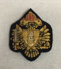 QDG Officers Beret Badge Embroidered, Queens Dragoon Guards, Army, Military