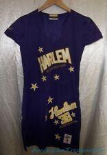 Platinum Fubu Harlem Globetrotters #35 Basketball Purple Gold Jersey Dress Sz M