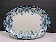 "Royal Staffordshire 14.5"" Flow Blue IRIS Serving Platter Burslem England"