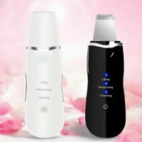Rechargeable Ultrasonic Scrubber Skin Spatula Facial Cleaner Peeling Massage Spa
