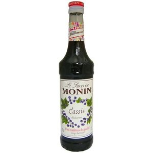 MONIN Blackcurrant Coffee Syrup 25 CL - ideal size for trying out this flavour!
