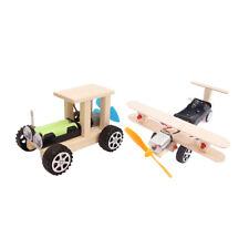 2 stücke flugzeug & auto montieren modell kit elektrische diy kinder
