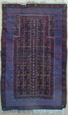 Old Original Baluchi Prayer Rug Classic Design Handmade Very Rare