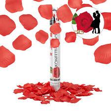 Party Popper Rosenblätter rot Hochzeit Konfettipistole Konfettikanone Verlobung