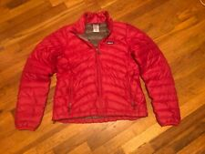 $229.99 Patagonia Down Sweater Jacket Coat Full Zip Medium Women's Pink/Red