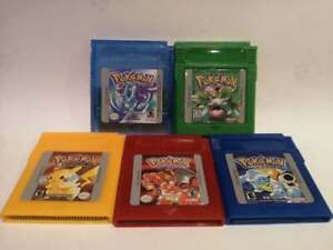 Pokemon Crystal, Red, Blue, Yellow & Green Gameboy Colour for Nintendo GBC GBA