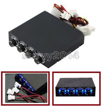 3.5inch PC HDD CPU 4 Channel Fan Speed Controller Led Cooling Front Panel