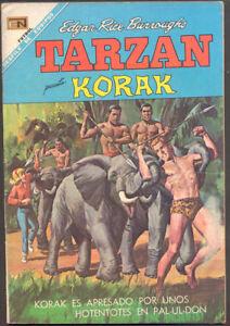 TARZAN # 197 PRESENTA KORAK ORIGINAL SPANISH MEXICAN COMIC NOVARO 1968