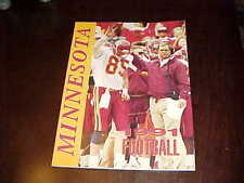 1991 Minnesota Golden Gophers Football Media Guide