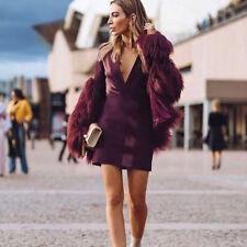 Women's Autumn Winter Warm Fluffy Faux Fur Jacket Coat Outerwear Party Ovetcoat