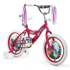 """Girls 16"""" Bicycle Bike with Removable Training Wheels for kids Pink Unicorn New"""