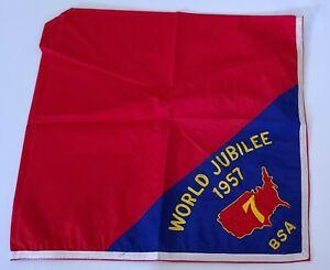 1957 Boy Scout World Jamboree Region 7 Neckerchief
