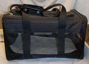 Sherpa Original Bag Cat Carrier Black Medium Nylon Mesh Soft-Sided