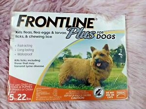 FRONTLINE Plus Dog Flea and Tick Treatment-Small Dogs 5-22 lbs, 3 Doses