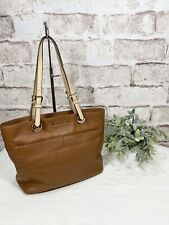 Michael Kors Bedford Pebble Leather Pocket Tote Soft Brown