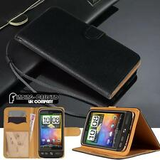 Black Magnetic Flip Cover Stand Wallet Leather Case For Various HTC Desire Phone